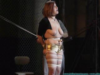 Riley Janes Hogtie Test 2 part - Extreme, Bondage, Caning