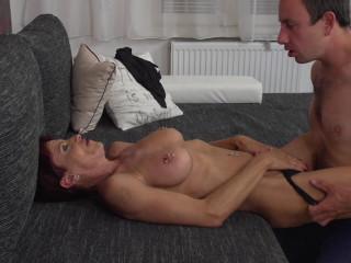 Kim O - German Pierced older lady doing her toyboy FullHD 1080p