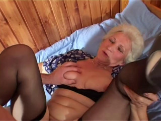Granny Norma hungry for young cock