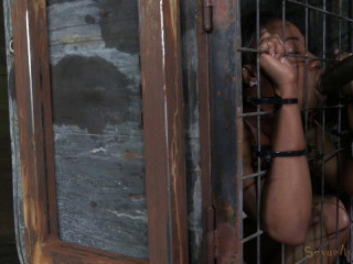 Cocksucker Chanell Heart caged and used