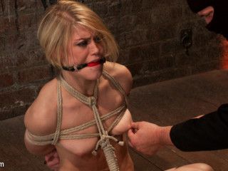 Molten blond's nips are abuse, soles tickled, & slit screwed with a stick, made to jism like a whore.