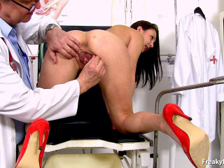 Kara Rose 25 years gals gynecology examination (2016)