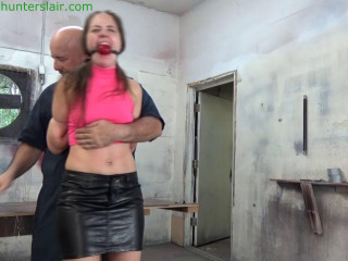 HunterSlair - Rachel Adams - Brutal reverse prayer in nylon zip-ties