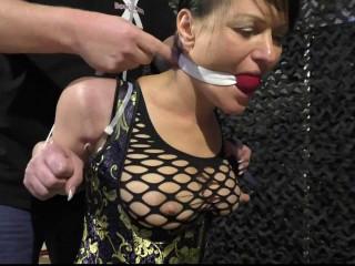 SuperTightBondage - Twenty one Feb, 2016 - Fierce Zip Tie Scorpion Posture for Yvette