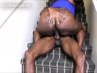 big tit ebony Celebrity Cumms get drilled by huge black cock 480p