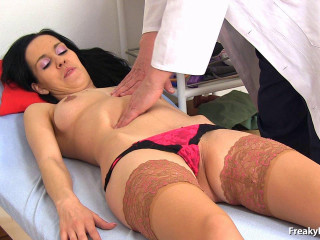 medical examination of a 25-year-old girl at the gynecologist