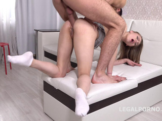 First Time Anal, Mia Split gets it up the ass for the first time