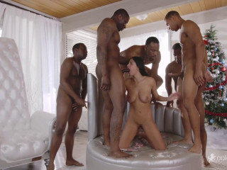 Anissa Kate - Anissa Gets Her Interracial Christmas Gang Fuck Desire FullHD 1080p