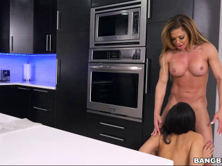 MILF shares her spouses knob with the maid