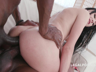 Skinny Slut Kiara Destroyed & Dap'ed By 2 Monster Black Cocks