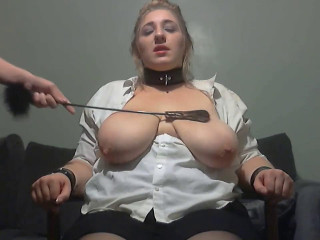 Ass and huge natural boobs whipped hard