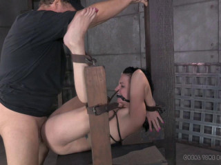 Sexy brunette strictly gagged