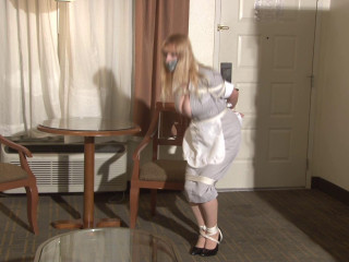 Big-Boob Motel Maid Lorelei Leaping in Restrain bondage