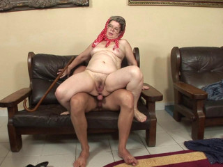 Dirty old skank loves young cock