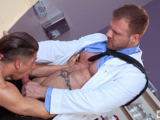 Delicious guy Armond Rizzo at a doctor's date
