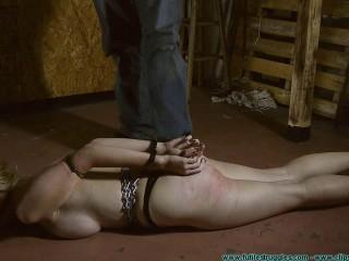 Allegra HogCuffed Genitals Fettered then Genitals - BDSM,Humiliation,Torture HD 720p