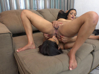 Orgasming she begs him to stop