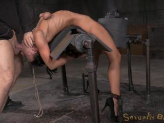 Bendy newbie bent over backwards