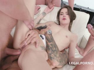 4on1 Anal Gangbang With Dap For Sperm Slut