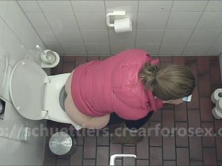 Public restroom hidden cam inexperienced urine and coprophilia