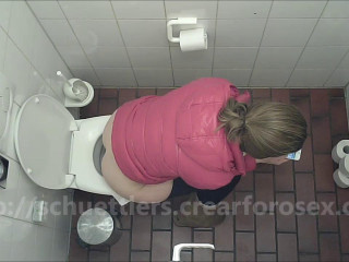 Public toilet spycam amateur urine and scat