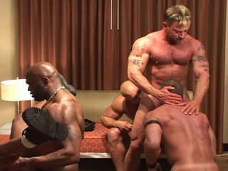 Hardcore Gangbang With Muscle Nasty Men