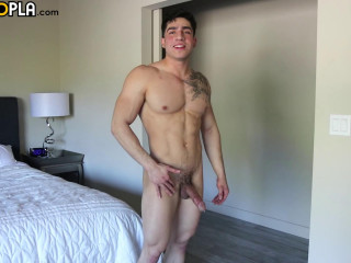 gh - Super Fit Hung Cock Diego Cruz Jerks Off