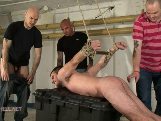 Fraser5-l - Revved into human urinal, butt flogged, made to deep-throat sausage and balls