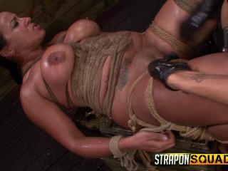 StraponSquad - Oct 10, 2014 - Brooklyn Daniels & Mila Blaze Enjoy rope Restrain bondage
