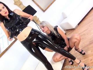 Rubber Babes, Fingering, Masking, Vibrator Sex Part One