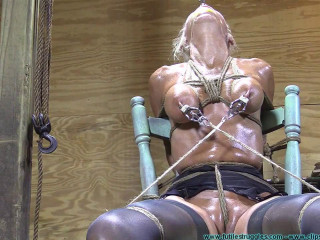 Thighs Opened up Chair Tie for Amanda Fox part 3