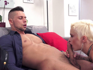 Short haired blonde enjoys hardcore sex abroad FullHD 1080p