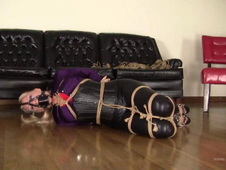 Mizz Shutters : Satin and Spandex Jute Bondage