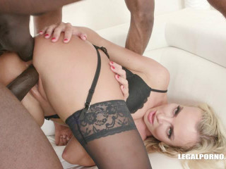 Victoria Pure finally takes two cocks in the ass