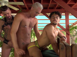 Hot 3some Armond Rizzo, Dolf Dietrich & Silver Steele (1080p)