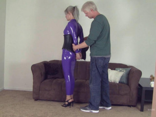 Claire D'Lune - Purple Hobble Dress Mummification