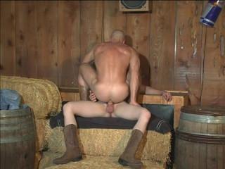 Sexy cowboys bareback