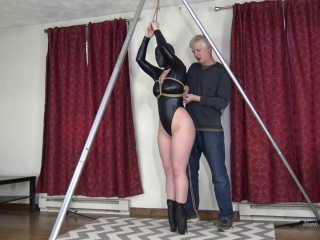 Ballet Boots and Standing Hooded Bondage