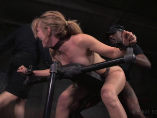 Fabulous Mona Wales dicked down by Big black cock in cock-squeezing restrain bondage