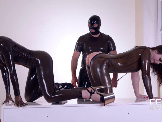 Furniture Polish - Shiny Fistfucked Table, Part 1 - Latex Lucy & Lucia Love