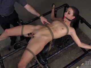 Supah bondage, smacking and torment for horny sizzling dark haired part 2