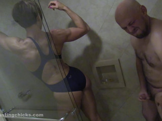 Ball Busting Nymphs - Ecstasy - Female dominance Romp In The Bathroom