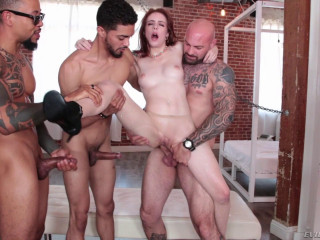 Savage Gang Bang For Pale Babe Anna De Ville