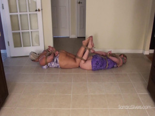 Barefoot Bondage Escape Attempt for Sundress-Clad Milf Roommates!
