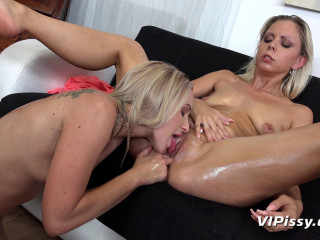 Oil Babes In Piss Play