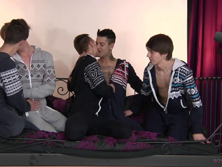 5 Horny Boys All Glutton for It!