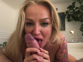 Tatted Blonde Kayla Green Enjoys the Big Cock of Manuel Ferrara