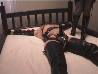 Flashback Friday - Leather and Metal Bondage - Arm Binders with Chastity