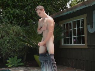 RandyBlue - Hot Twink Jake Orion eats his load