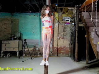 Hooters Waitress Mummified and Tickled
